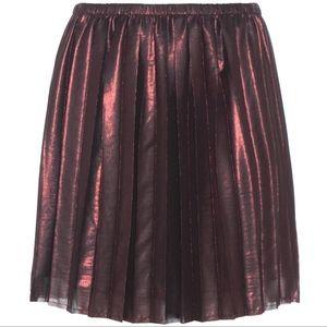 Isabel Marant Étoile Manda Pleated Metallic Skirt